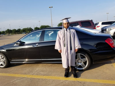 graduation limo in  Harbor Grove TX